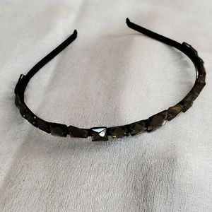 LOFT Grey Jeweled Headband #623